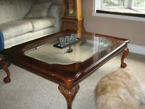 Solid Coffee Table & Matching End Table