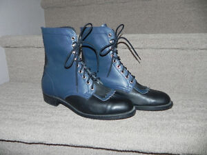 Biltrite Leather Lace Up Roper Black/Blue