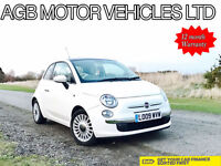 * 2009 WHITE FIAT 500 LOUNGE MODEL 1.2 PETROL LOUNGE - HPI CLEAR ☆ REDUCED☆ *