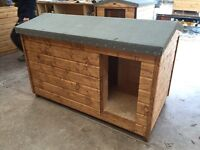 Large dog kennel with enclosed porch.