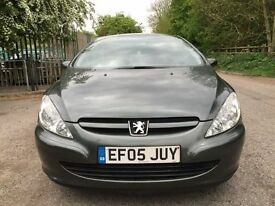 Peugeot 307cc leather convertible