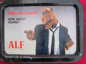 * ALF *  T.V.  TRAY * LET'S DO LUNCH * CIRCA 1987 * pst #.45