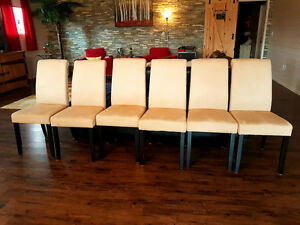 6 new like chairs.