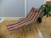 Lounge Chair with carry on case