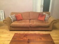 Rust Fabric Sofa 3,2 & 1 For Sale £175.00 ONO