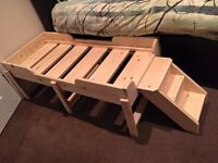 Raised handmade dog bed