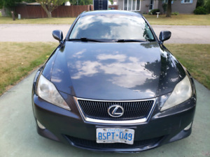 2008 Lexus IS250 AWD $7,500 Charcoal Gray Black New Snow Tires