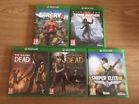 Xbox one games , £15 each ! Price stands , no offers ! will post if needed !