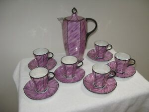 Antique hot chocolate set
