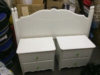 White 5-pc Bedroom Set in Great Condition