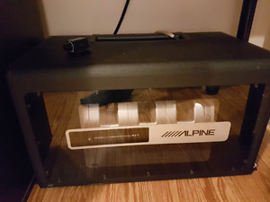 Subwoofer and Aplifier Alpine PLV-7