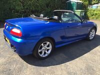BEAUTIFUL 2002 MG TF 135 TROPHY BLUE HOOD WITH HEATED GLASS LOTS OF NEW PARTS LONG MOT