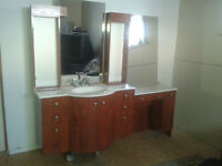 Bathroom Vanity with faucets