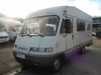 Hymer B544 4 Berth used A Class motorhome with end kitchen for sale