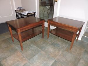 2 Vintage Deilcraft Solid Wood End Tables by Electrohome