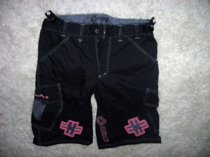 Black cycling shorts - women's large. Comfortable and stylish.