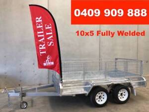 10x5 BOX TRAILER HOT DIP GALVANISED, NEW LIGHT TRUCK WHEELS Ferntree Gully Knox Area Preview