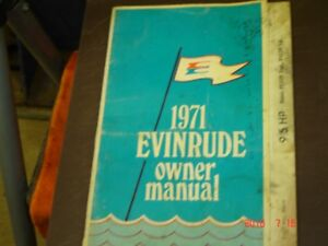 1971 Evinrude 9.5 Hp outboard owners manual.
