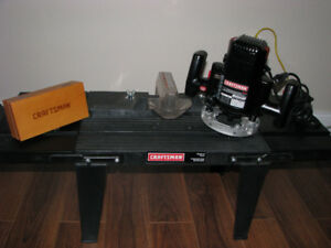 Router (incl 6 piece Bit Set) & Router Table (Never Used)!!!