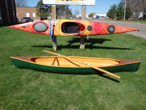 """""""Wee Lassie"""" Handcrafted Canoe and paddle"""