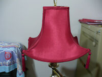 Floor lamp with Chinese style shade