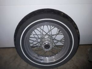 Harley Davidson - 2002 Softail  - Rear wheel with Dunlop Rubber