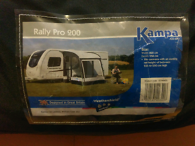 Kampa Rally Pro 200 awning (poled) NEW for sale  Penicuik, Midlothian