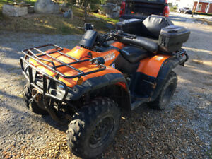 2001 Honda 350 fourtrax and 4x8 trailer to transport on