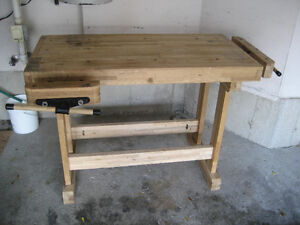 Woodworker's Bench - Solid Maple w/tail and side vises Kitchener / Waterloo Kitchener Area image 7