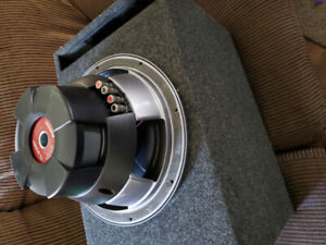 Pioneer champion series 12 inch sub with ported enclosure