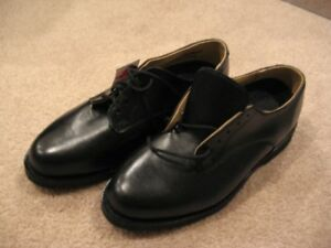 Black Leather / Oxford Shoes - 8.5 W  (Military Shoe) NEW