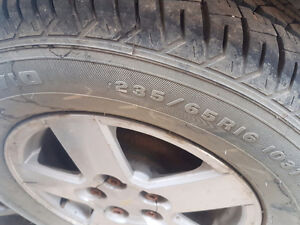 4 new tires on magweel for GM
