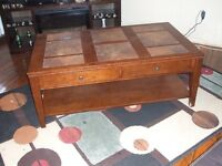 coffee and end tables soilis wood