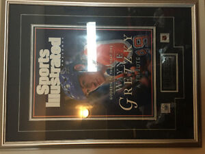 Wayne Gretzky framed sports illustrated
