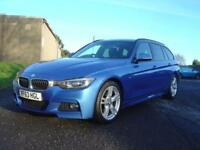 2013 63 BMW 3 SERIES 2.0 320D M SPORT BLUE PERFORMANCE ESTATE 5D AUTO 181 BHP D