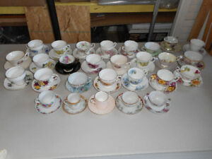 ASSORTED CHINA CUPS AND SAUCERS FOR SALE