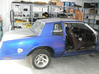 1986 Monte Carlo SS project car with space car for parts