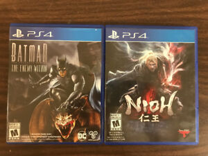 PS4 Games - Nioh and Batman the Enemy Within Telltale Game