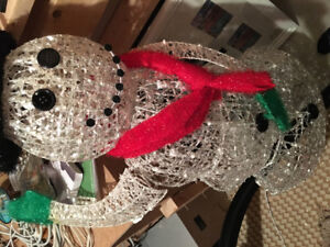 Plug in Snowman for outdoor use at Christmas