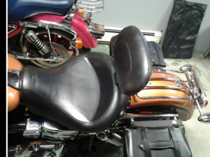 PRICE DROP-Dyna Glide seat/backrest and carrier.