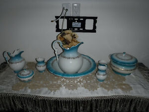 Antique wash set 11 piece C-1880