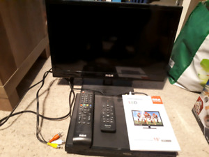 "19"" RCA LED TV AND PHILIPS DVD PLAYER"