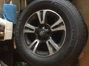 2016 Toyota Tacoma 17 Inch OEM Factory Wheels and tires