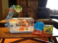 Habitrail Cristal hamster cage & accessories