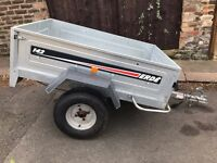 Erde 142 trailer with cover, spare wheel new tyre