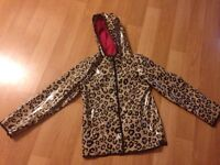 GIRLS SIZE 10/12 HOODED, LINED RAINCOAT
