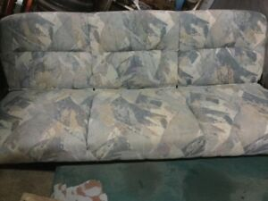 Rv, camper, tent trailer folding couch and table cushions.