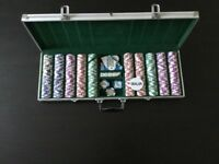 Limited Edition Luxury Metal Insert Poker Chips - 500 piece set