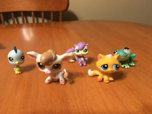 LITTLEST PET SHOP LOT #19 cow cat bird chipmunk frog