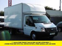 2013 FORD TRANSIT 350/125 LUTON BOX DIESEL VAN *** 1 OWNER FROM NEW WITH FULL SE